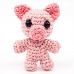 Schwein Häkelanleitung – Mini Noso